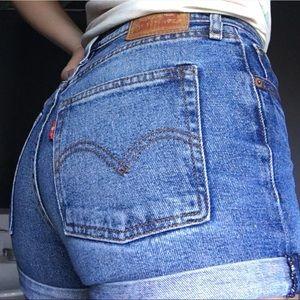 Levi's Denim Highwaisted Jean Shorts Urban